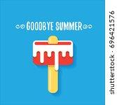vector goodbye summer vector...   Shutterstock .eps vector #696421576