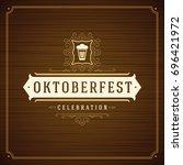 oktoberfest beer festival... | Shutterstock .eps vector #696421972