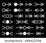 set of silhouettes arrows. | Shutterstock .eps vector #696422536