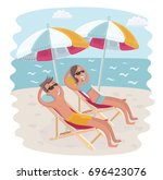 vector cartoon funny... | Shutterstock .eps vector #696423076
