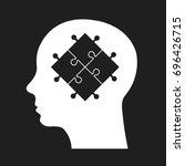 idea  puzzle icon. vector...   Shutterstock .eps vector #696426715