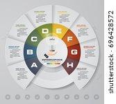 8 steps process. simple... | Shutterstock .eps vector #696428572