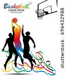 visual drawing sport basketball ... | Shutterstock .eps vector #696432988