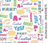 vector achievement school... | Shutterstock .eps vector #696434875