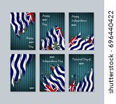 biot patriotic cards for... | Shutterstock .eps vector #696440422