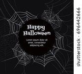 spider web. black and white... | Shutterstock .eps vector #696442666