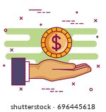 crowdfunding sponsor...   Shutterstock .eps vector #696445618