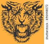 tiger illustration  tee shirt... | Shutterstock .eps vector #696448072