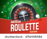 casino roulette wheel with... | Shutterstock .eps vector #696448486