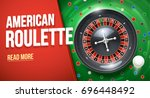 casino roulette wheel with... | Shutterstock .eps vector #696448492