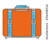 suitcase travel isolated icon | Shutterstock .eps vector #696448516