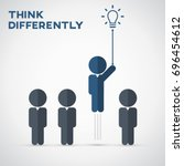 think differently   being... | Shutterstock .eps vector #696454612
