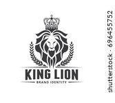 lion logo template. | Shutterstock .eps vector #696455752