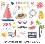 nautical summer collections | Shutterstock .eps vector #696462772