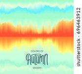 creative autumn seasonal poster.... | Shutterstock .eps vector #696463912