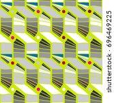 seamless geometric pattern....   Shutterstock .eps vector #696469225
