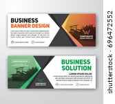 modern corporate banner... | Shutterstock .eps vector #696472552