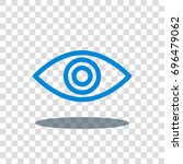 eye view watch icon vector... | Shutterstock .eps vector #696479062