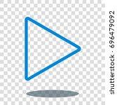 play icon  sign or logo vector... | Shutterstock .eps vector #696479092