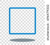 square quadrate frame icon... | Shutterstock .eps vector #696479332