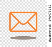 mail envelope letter icon... | Shutterstock .eps vector #696479362
