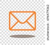 mail envelope letter icon...   Shutterstock .eps vector #696479362