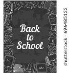 back to school design template... | Shutterstock .eps vector #696485122