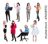 women isolated on white | Shutterstock . vector #69648952