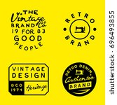 vintage logo templates on... | Shutterstock .eps vector #696493855
