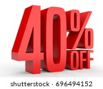 forty percent off. discount 40  ... | Shutterstock . vector #696494152