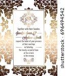 vintage baroque style wedding... | Shutterstock . vector #696494542