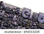 historical letterpress types ... | Shutterstock . vector #696513235