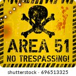 area fifty one sign.web icon ... | Shutterstock .eps vector #696513325