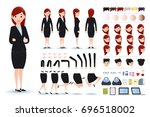 businesswoman character... | Shutterstock .eps vector #696518002