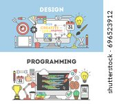 programming and design concept... | Shutterstock . vector #696523912