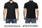 Men In Blank Black Polo Shirt ...