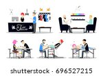 tattoo studio interior design.... | Shutterstock . vector #696527215