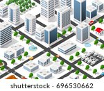 urban isometric area of the... | Shutterstock .eps vector #696530662
