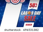 labor day sale background... | Shutterstock .eps vector #696531382