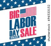 united states labor day sale... | Shutterstock .eps vector #696533152