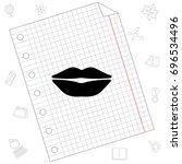 web icon. lips. vector... | Shutterstock .eps vector #696534496