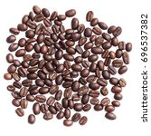 coffee beans on white... | Shutterstock . vector #696537382