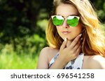 close up portrait of a... | Shutterstock . vector #696541258