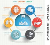 medical info graphic design... | Shutterstock .eps vector #696543028