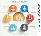 oil industry info graphic... | Shutterstock .eps vector #696543058