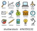 set of hand drawn business... | Shutterstock .eps vector #696550132