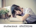 shallow depth of field of cute...   Shutterstock . vector #696550246