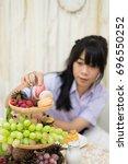 cute asian thai high school...   Shutterstock . vector #696550252