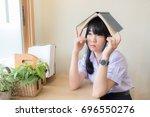 cute asian thai high school...   Shutterstock . vector #696550276