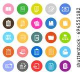 file folder icons | Shutterstock .eps vector #696551182